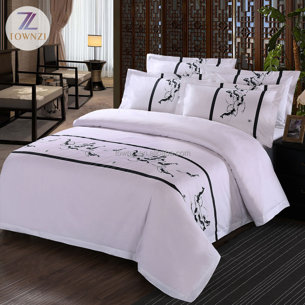2019 Fashion Luxury Super King 100% Cotton Comforter Sets Queen Hotel Printed Duvet Cover Set Wholesale