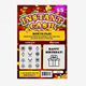 Instant Prize scratch and winning quick rich lottery ticket card printing