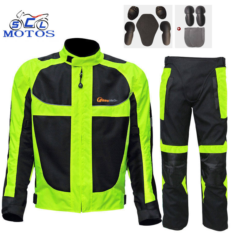 Riding Tribe Black Reflect Racing Winter Jackets and Pants Motorcycle Waterproof Jackets Suits Trousers ropa moto ciclismo ropa