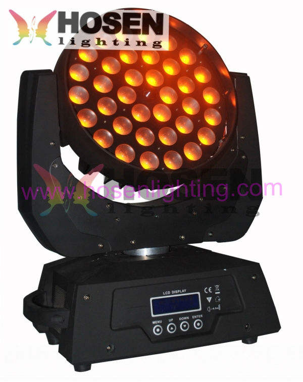 discount Hot Hosen lighting zoom led moving head wash 36pcs RGBWAUV 6in1 18W led stage light led stage lights