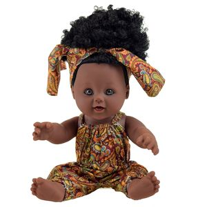 Wholesale PVC hot selling black doll and lifelike 12 inch fashion doll for child