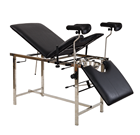 Stainless steel hospital gynecology examination couch delivery bed table
