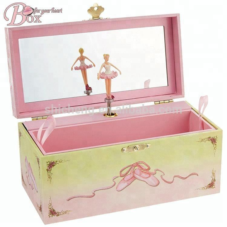 Luxury Jewelry Storage wedding favors Ballerina Musical Box Mechanism dancing Musical Box