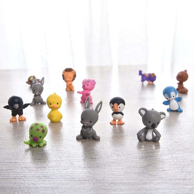 Assorted Mini 3D PVC Animal Toy Plastic Cartoon Capsule Toys Accessories Action Figures Amazon Hot Selling