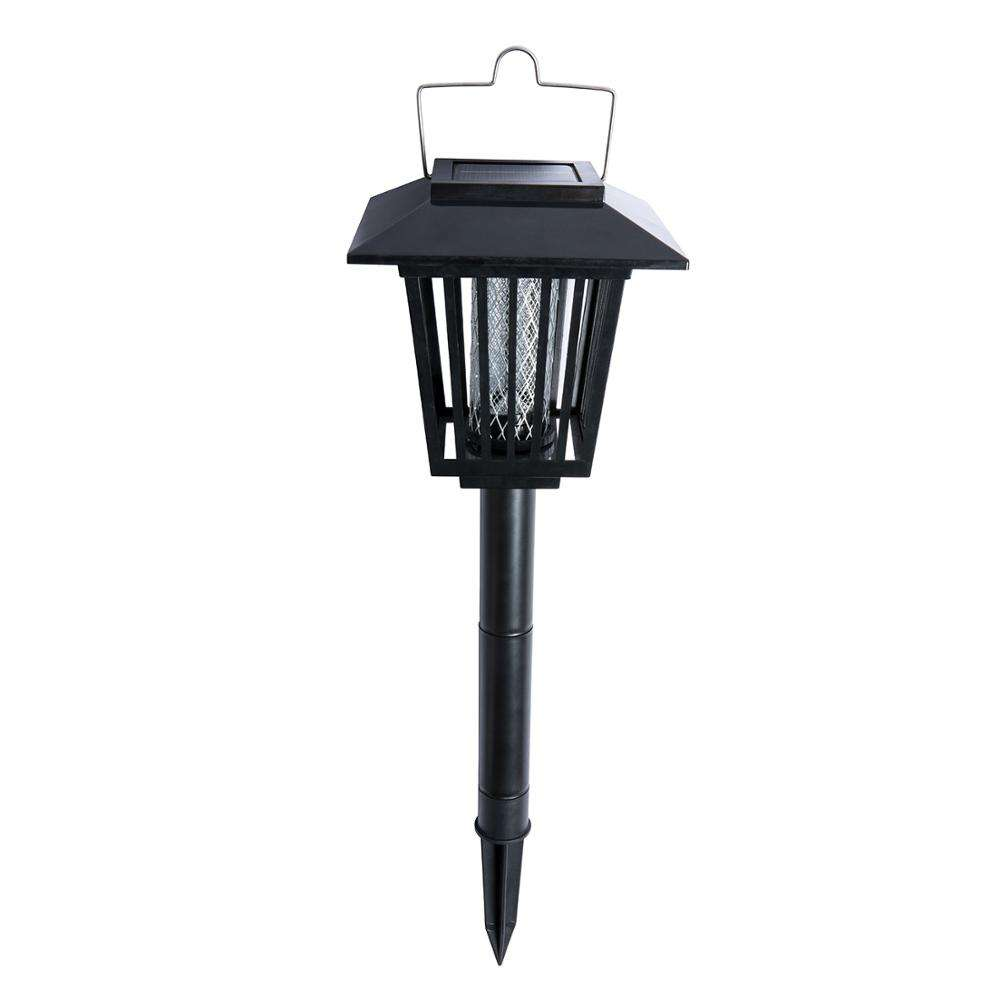 Bug Trap LED Garden Light Lamp Insect Zapper Solar Powered UV Mosquito Killer