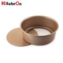 Promotional 8 Inch Round Champagne Nonstick Baking Cheese Cake Pan with Removable Bottom
