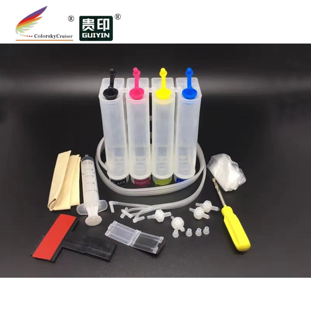 universal 4 color CISS kit continuous ink supply system of ink cartridge for Epson for Brother for Canon for Hp with accessories