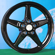 15 inch 17inch black full painting wheels rims for car 5 hole L080 5spokes 5lug 5x114.3