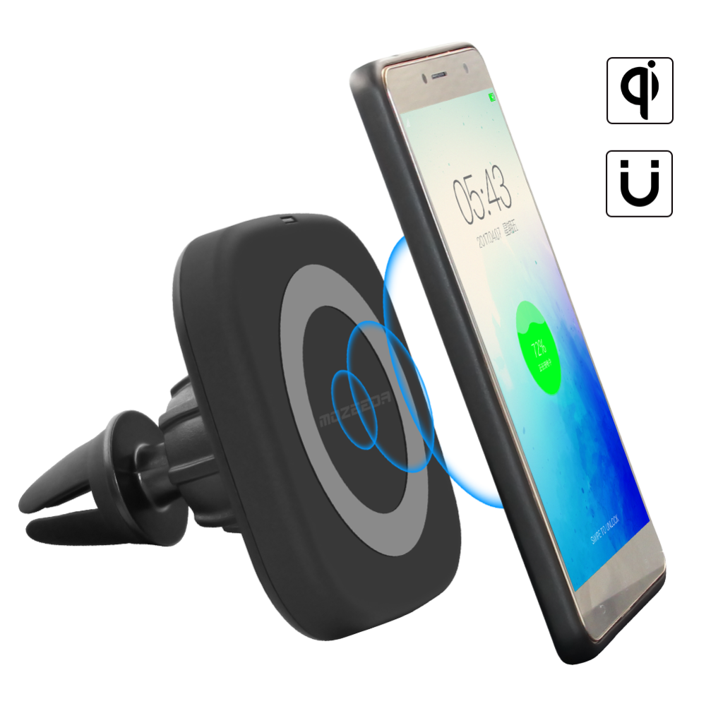 Good sealed wonderful design Qi Magnetic car wireless phone charger with fast delivery
