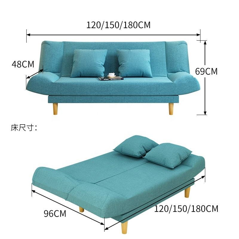 Modern Living Room Furniture Wooden Leg Corner Folding Sofa Sofa Set Couch Sleeper Bed