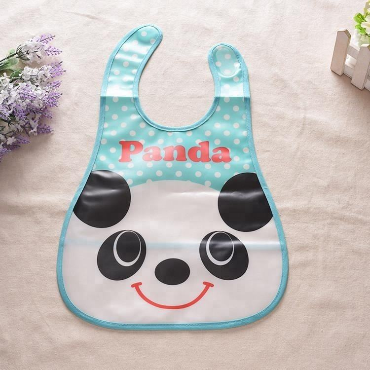 Baby Eco-Friendly Full Color Printing PEVA Laminated Polyester Waterproof Baby Bib