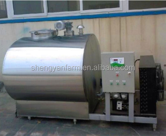 Stainless steel milk cooling tank for dairy farm milking