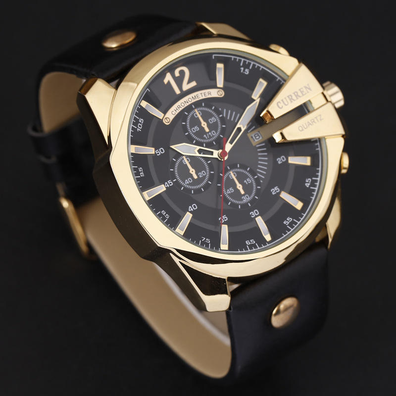 CURREN 8176 Men Watches 2019 Top Luxury Popular Big Dial Brand Watch Quartz Gold Watches Men Relogio