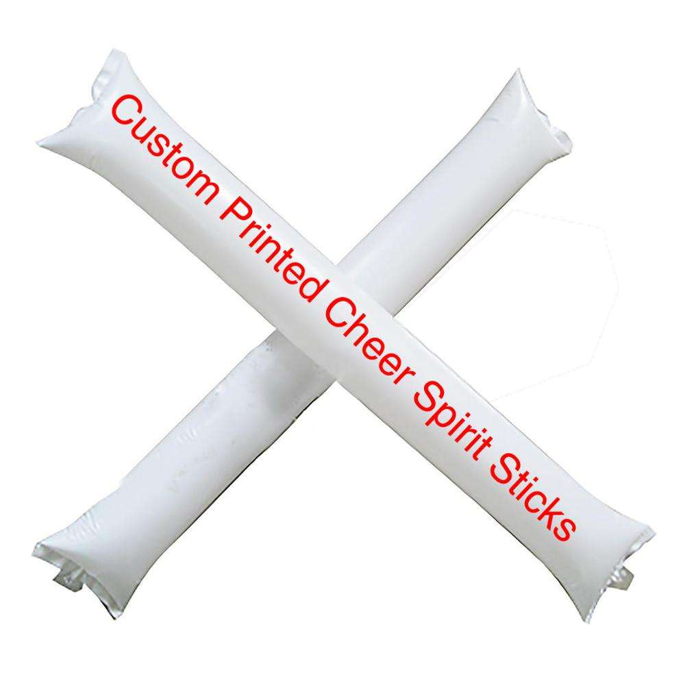 LOGO Printed Cheap LDPE Inflatable cheering Sticks, thunder stick