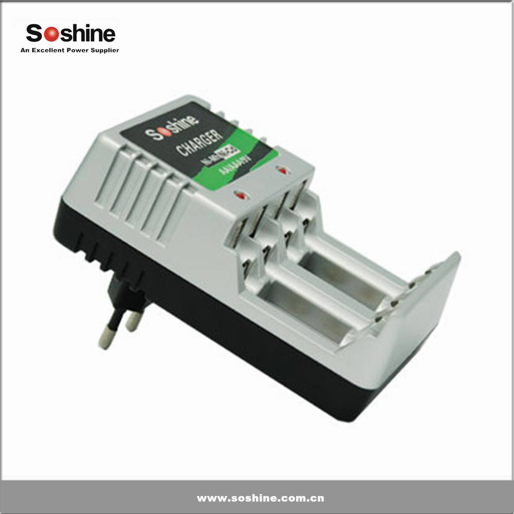 Soshine AAA/AA/9 V pin NI-MH sạc Nhỏ Gọn Battery Charger aa aaa battery charger xách tay battery charger