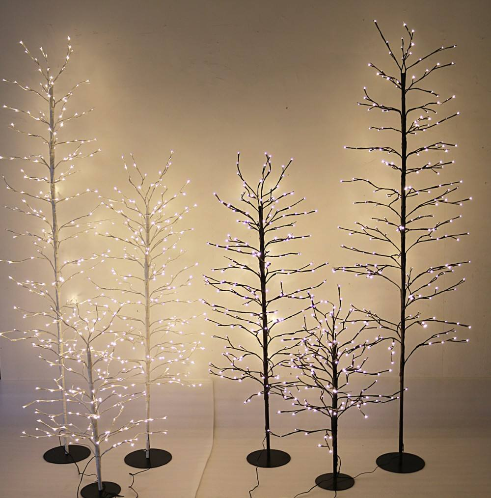 factory supply programmable led per lit birch twig branch christmas tree light