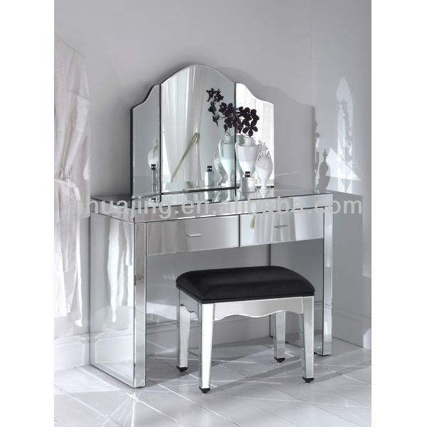 All Mirrored Modern Console Table with 2 Drawers/Mirrored Dressing Table/Hallway Table