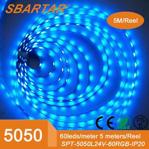 yapışkanlı cırt 5m 300D esnek renk değişmektedir led ışık şeridi DC12V