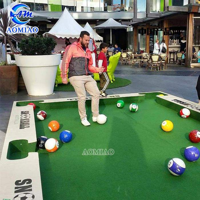 Indoor giant human billiards game snooker soccer ball inflatable snookball table
