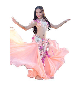 RT320 Wuchieal Kids Professional Customized Size Belly Dance Costume Set