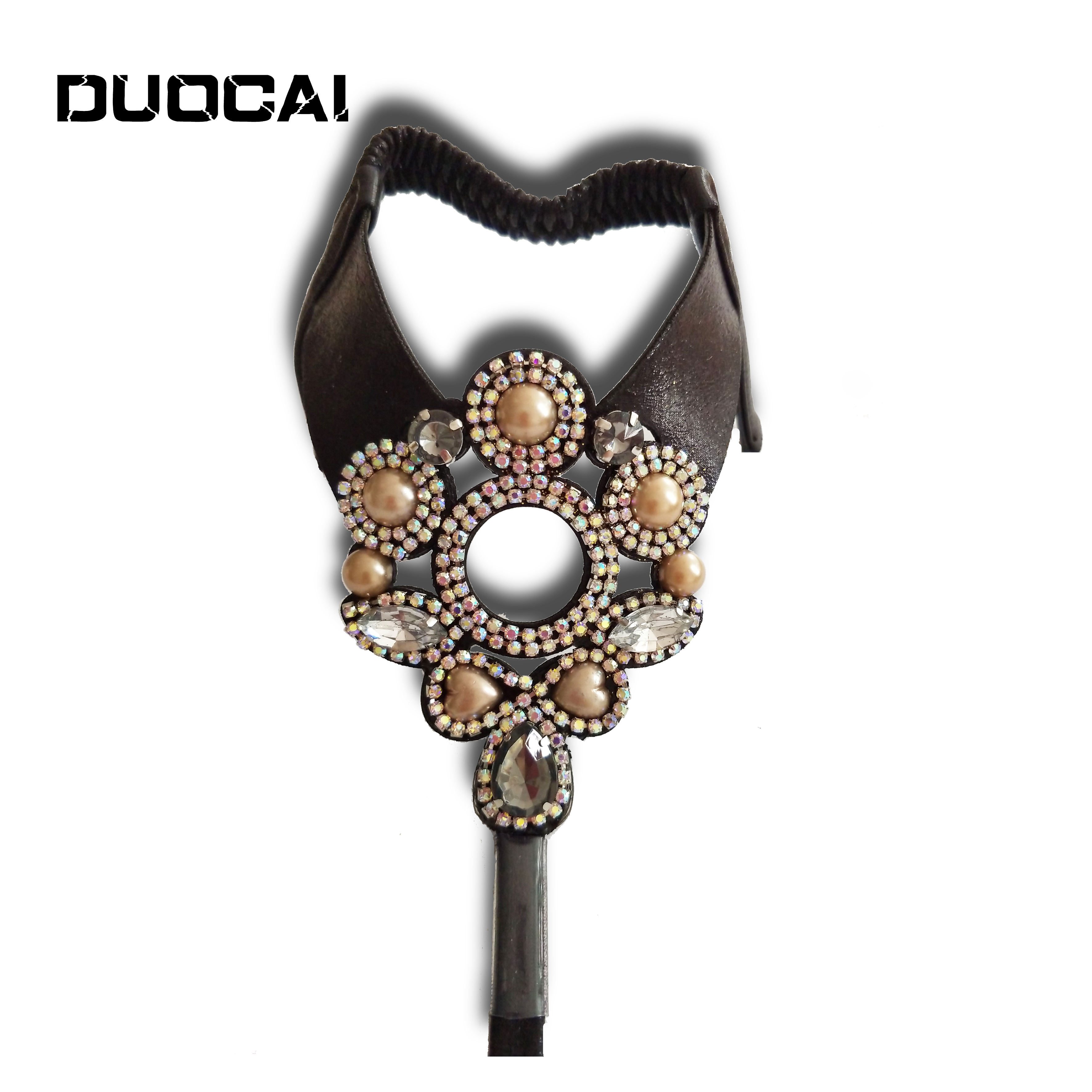 2021 latest fashion simple mesh diamond pearl wild women's PU sandals upper
