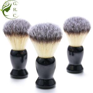 Your own brand no moq cream badger vegan synthetic men's shaving brush