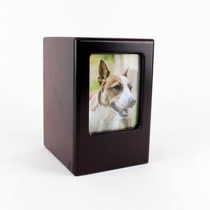 Hot Selling Midlee Picture Frame pet Memory Wooden Pet Urn for Ashes