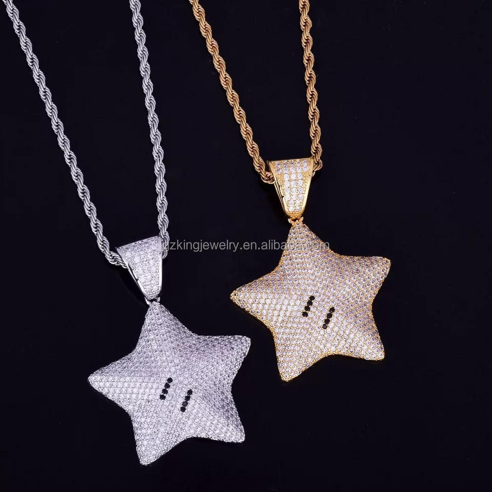 Sterling Silver 925 Cz Iced-out Star of Bethlehem Earrings Vintage Inspired Pave