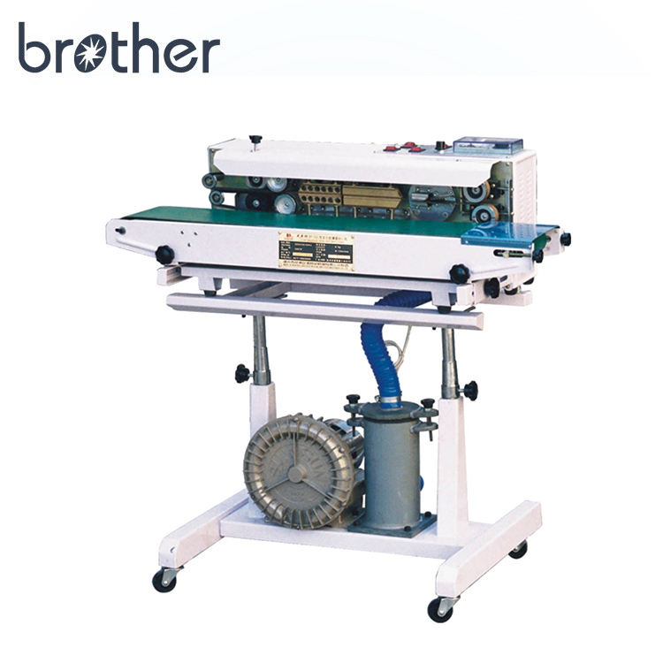 Brother vertical continuous sealing nitrogen gas plastic potato chip bags sealer heat sealing machine