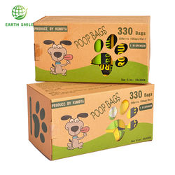 PLA PBAT Fully Compostable Disposable Poo Bag Customized Pet Biodegradable Corn Starch Dog Poop Bag