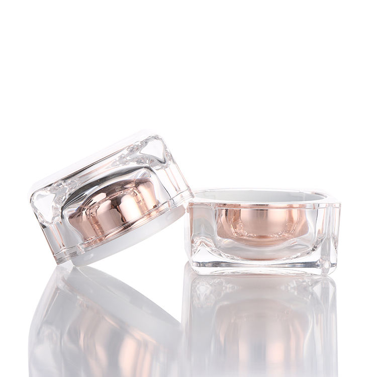 ZY03-A108 cosmetic clear mini plastic acrylic jar 50ml