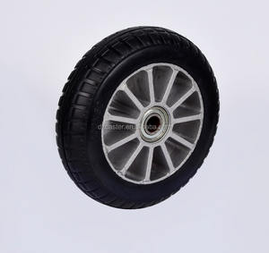 8inch 200mm aluminum rubber wheel elastic rubber caster wheel