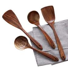 Customized Teakwood Kitchen Spatula Spoon Turner 4 Pieces Cooking Tools Utensils Set