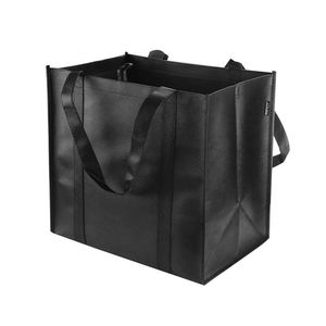 manufacturer promotional pp laminated non woven fabric tote shopping packaging bag