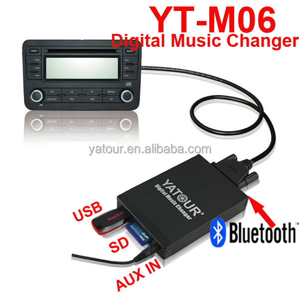 CE,RoHS Approved Car Radio USB/AUX/SD Card Adapter Digital Music Changer For VW/Audi
