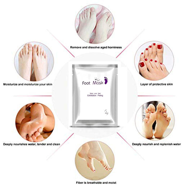 New Factory Price Exfoliating Foot Mask, High Quality Peel And Callus Removal