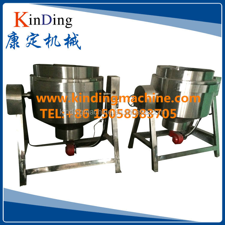 Stainless steel Industrial Tilting type electric/steam/gas heating double Jacket kettle cooking pot