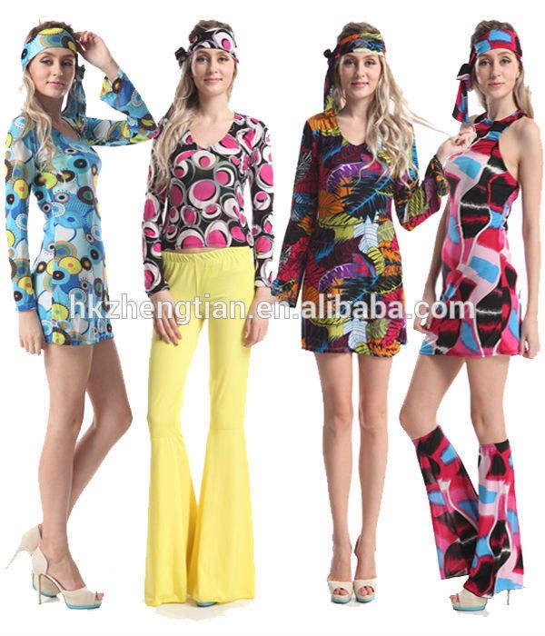 60s 70s Flower Power Groovy Retro Go Go Hippy Girls Fancy Dress Costume Kid