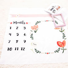 Hot new products prop milestone blanket photography newborn baby monthly milestone blanket