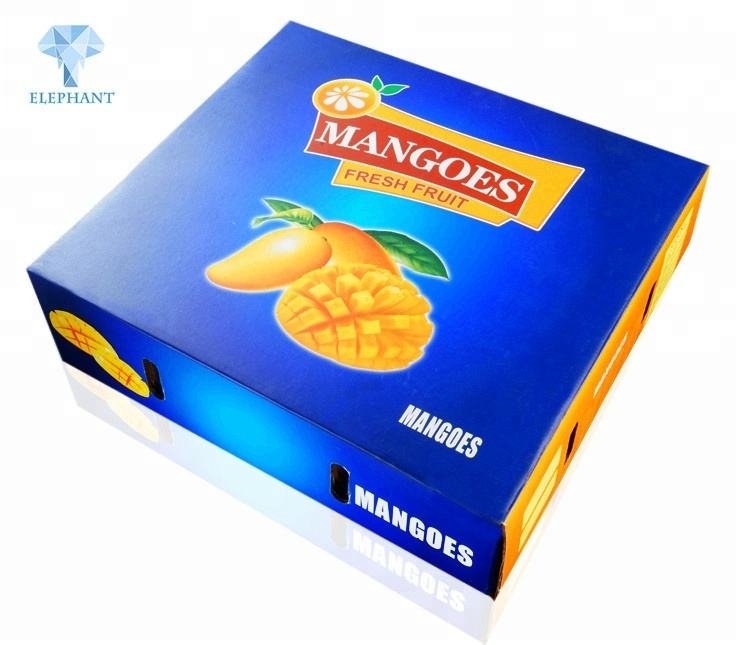 Better price good quality custom corrugated fruit mango packing boxes