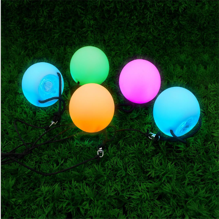 High Quality Soft Led Poi Ball Color Changing Lighting Multicolor Poi Ball for stage and Juggling