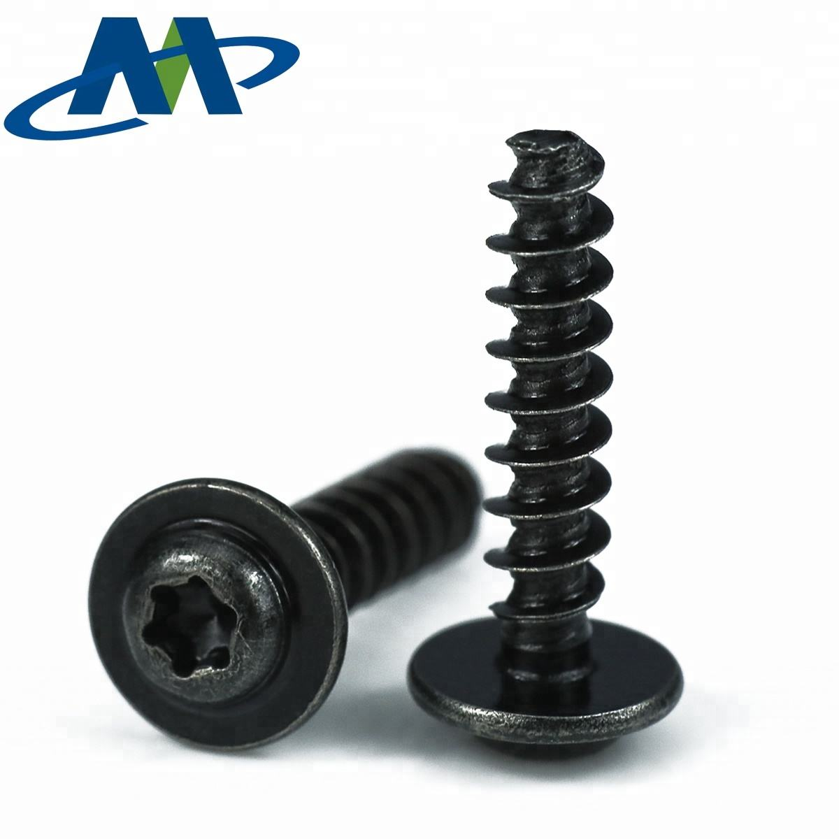 Black Zinc Plated Forming Thread Torx Pan head M3 PT screw for Thermoplastics