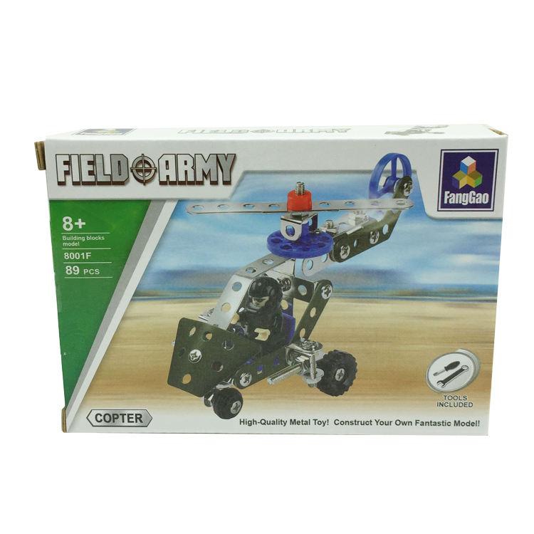 Noir faucon hélicoptère alliage building block jouets