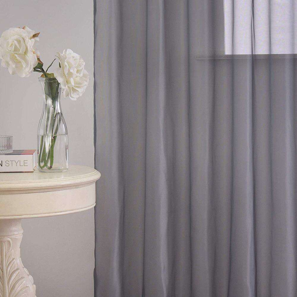 Home Textile Curtain Use and 100%Polyester Material Tulle Roll White Sheer Window Decoration Voile curtain