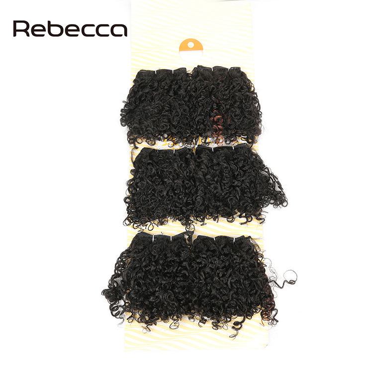 Noble Gold factory short curl synthetic fiber hair extension bloom curl for black women