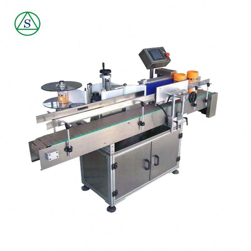 Cheap price double sides Automatic manual adhesive bottles labeling machine