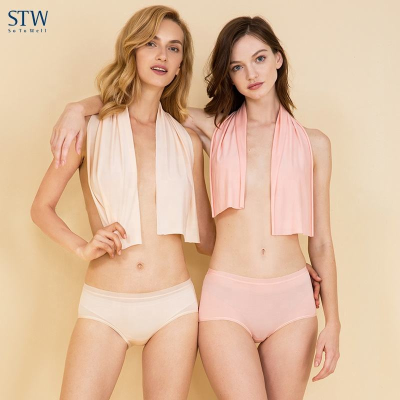STW Modal Sexy Summer Midsole Waist Girls Pants Breathable Large Size Briefs Women Seamless Underwear