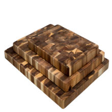 Wholesale cheap oem logo design kitchen rectangle blank solid acacia wooden serving chopping cutting board set