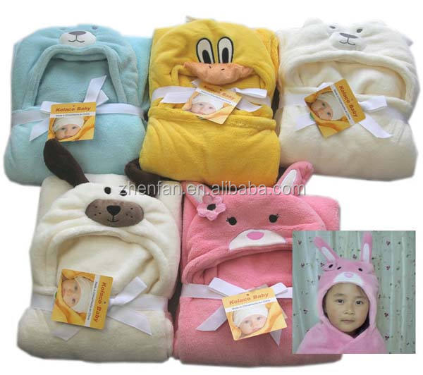 cute animal baby hooded towel bathrobe