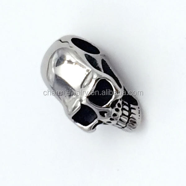 Punk Jewelry Findings Stainless Steel charm skull beads for jewelry making BXPJ002